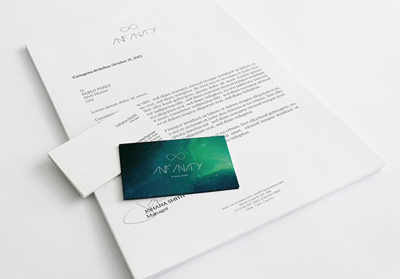 A4 Letterhead and Business Cards Mockup
