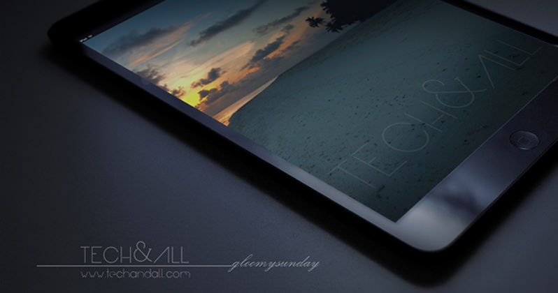 "iPad Perspective Screen Mockup ""Gloomy Sunday"" effect"