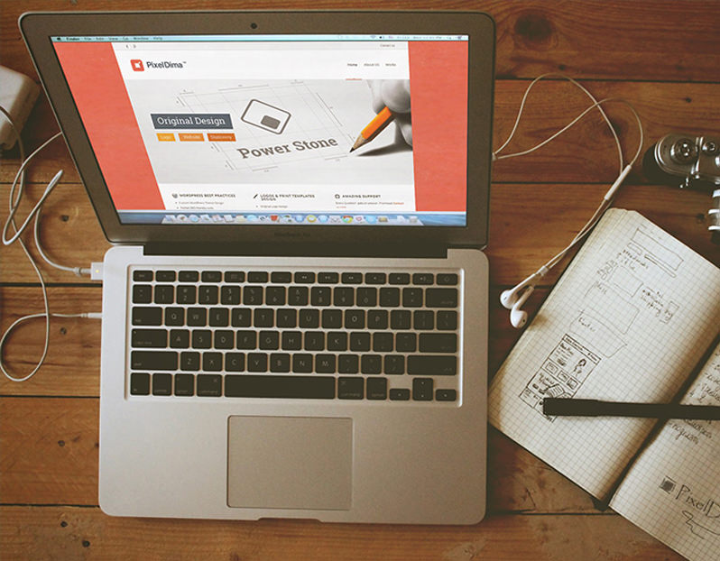 Macbook Air Screen Mock up