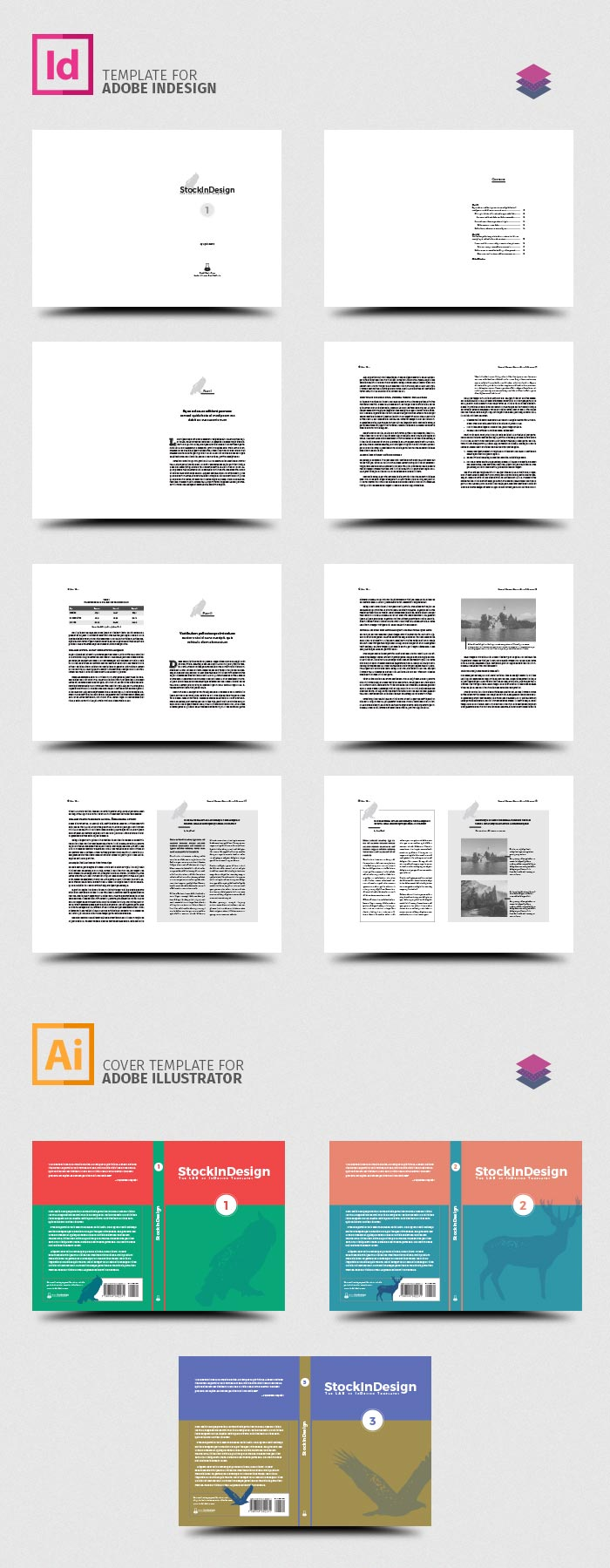 Indesign book template stockindesign for Adobe indesign templates free