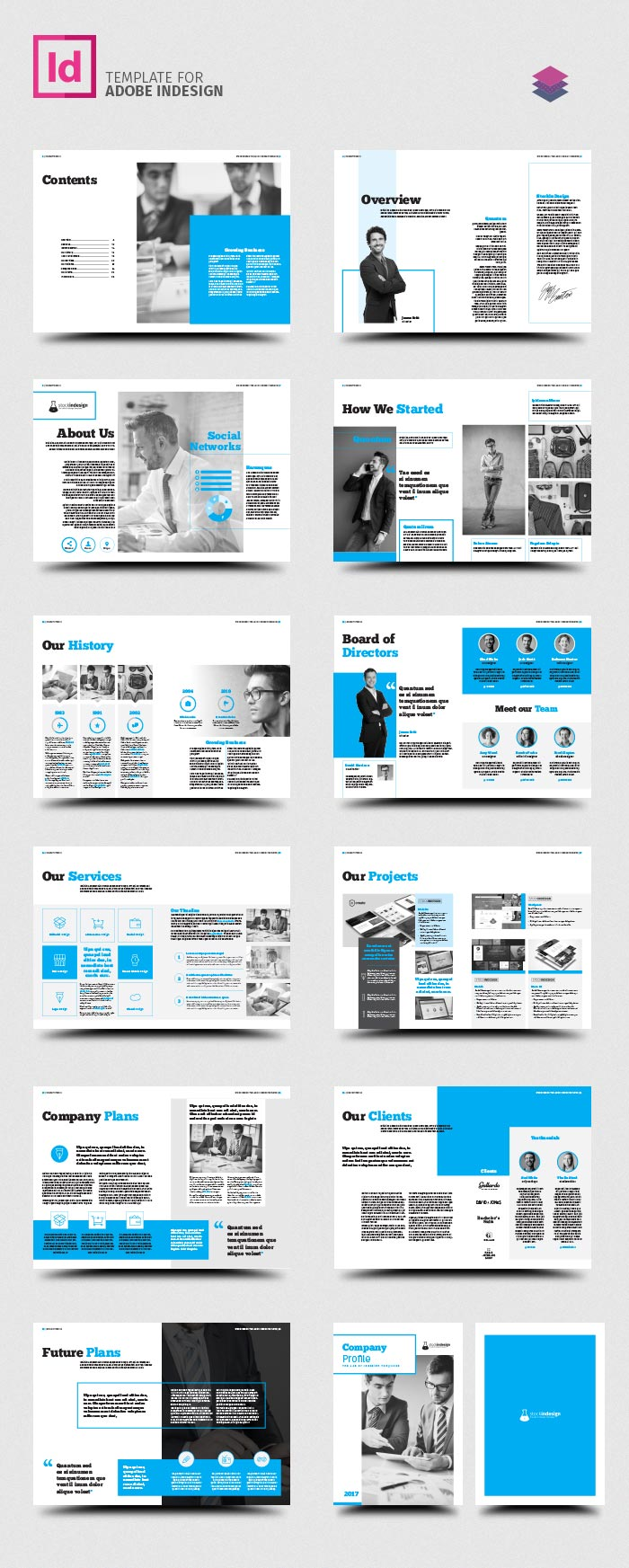 Company profile stockindesign for How to make a company profile template