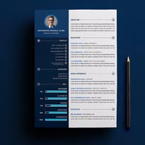 Creative Resume CV Template - FREE PSD TEMPLATE