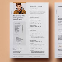 Resume Template Free with Adobe Photoshop