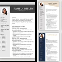 One Page Simple Resume Templates