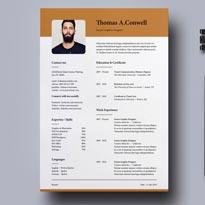 Resume Template Vol-09 Free PSD