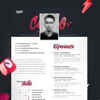 Free One Page CV Resume PSD