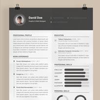 Free Resume Template Photoshop