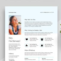 Free Simple Resume Format & Cover Letter in INDD, IDML, DOC & DOCX