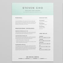 Free Resume Template & Cover Letter In INDD & Word For Freelance Web Engineers