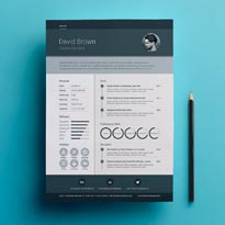Free A4 Material Resume Design Template In PSD, Ai & INDD