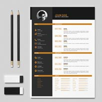 Free Clean Two Color Resume Template In Indesign INDD Format