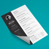 Free Clean Resume Template & Cover Letter In Word, PSD, PPTX & EPS
