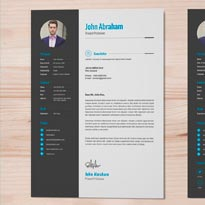 Free Professional Resume Template & Cover Design In INDD, PSD, Ai & Word DOCX