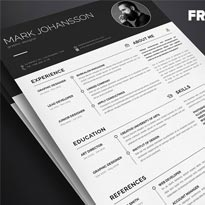 Free Clean Resume Template in PSD, Ai & INDD