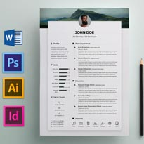 Free Resume CV Design Template & Cover Letter In DOC, PSD, AI & INDD