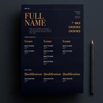 Free Elegant Dark Resume Template For Designers, Marketing, HR & I.T Professionals