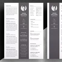 Free Resume Template for Designer in PSD