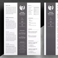 Free Resume Template for Designer in PSD