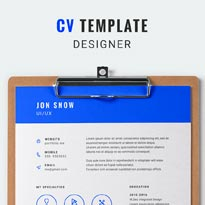 Free CV Template - Feeling Blue