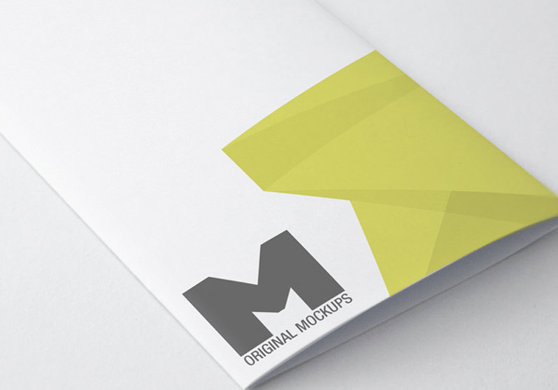 FREE PSD Mockups To Present Your Print Designs - Mini brochure template