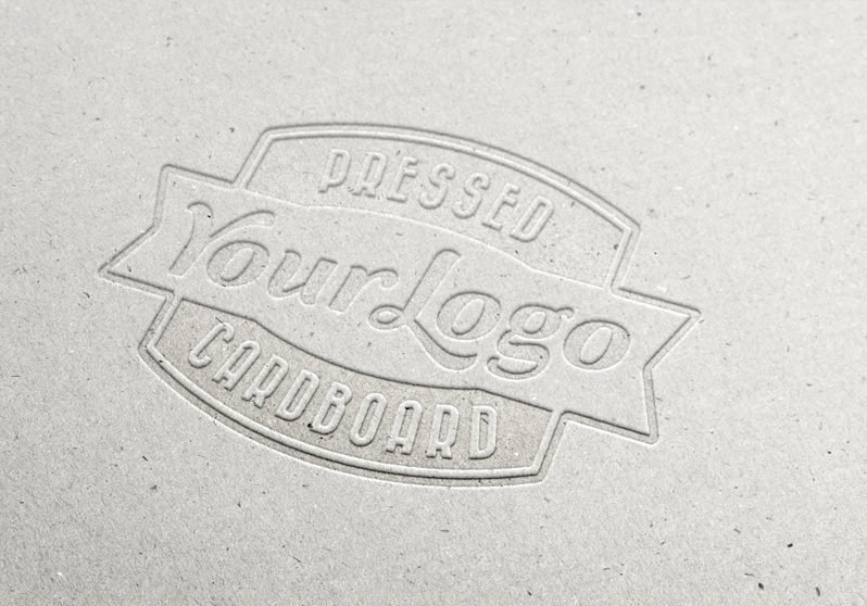 Pressed Cardboard Logo MockUp