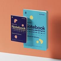 Gravity Psd Notebook Set Mockup