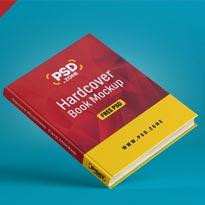 Floating Hardcover Book Mockup PSD