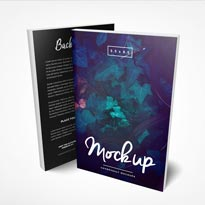 5.5 x 8.5 Front and Back Paperback Book Mockup