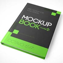 Free Hardcover Book MockUp in PSD