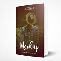 5.5 x 8.5 Standing Paperback Book Mockup