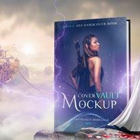 6 x 9 Sky Fantasy Hardcover Book Mockup