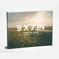9 x 7 Landscape Paperback Book Mockup