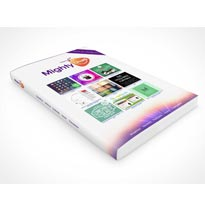 book mockup psd cover front
