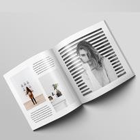 Square magazine brochure mockup psd