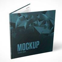 Square Book Free PSD Mockup
