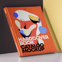 Psd Hardcover Book Catalog Mockup 3