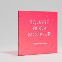 Colorful Backgrounds and Free Square Book Mockup