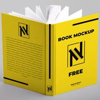 Open Book Hardcover Mockup FREE