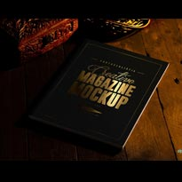 2 FREE MAGAZINE MOCK-UPS WITH STUNNING GOLD FOIL EFFECT