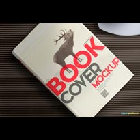 Free Hardcover Book Mockup for Cover Design Presentations