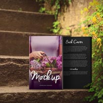 Romantic Steps 5 x 8 Paperback Book Mockup