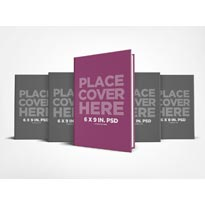 6 x 9 Hardcover Book Series Presentation Mockup