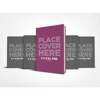 6 x 9 Hardcover Book Series Presentation Mockup