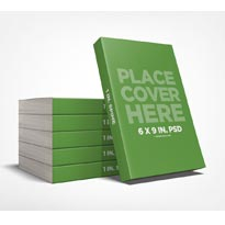 6 x 9 Stacked Book Promo Mockup