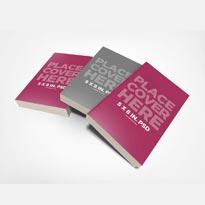 Messy 5 x 8 Book Stack Mockup