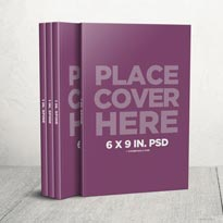 6 x 9 Boxset with Small Spine Mockup