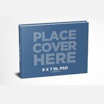 9 x 7 Landscape Hardcover Book Mockup