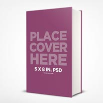 5 x 8 in. Hardcover Book Mockup with Thick Spine