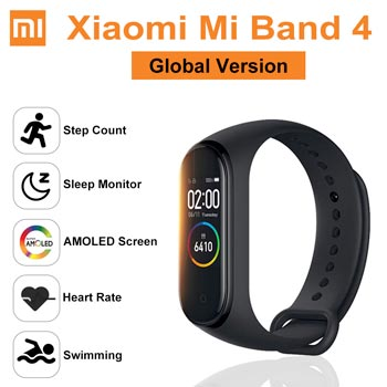 GLOBAL VERSION Original Xiaomi Mi Band 4 Smart Watch Wristband Amoled