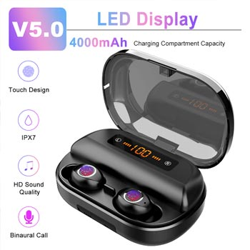TWS Wireless bluetooth 5.0 Earphone LED Display Waterproof Sport Stereo Earbuds Headset